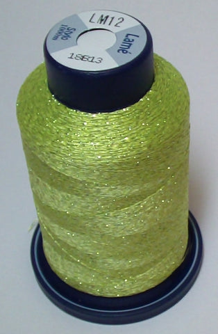 Chartreuse Lame' Stylo Sparkling Embroidery Thread - 1000 Meters LM12