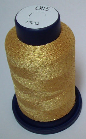 Yellow-Gold Lame' Stylo Sparkling Embroidery Thread - 1000 Meters LM15