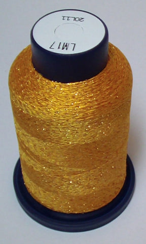 Orange-Gold Lame' Stylo Sparkling Embroidery Thread - 1000 Meters LM17