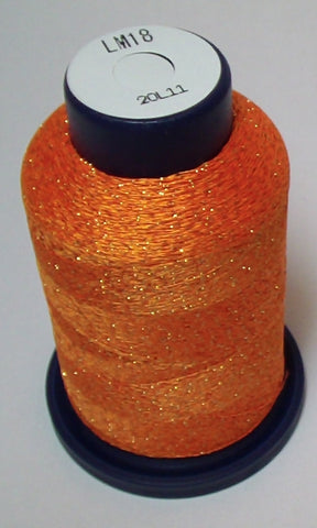 Orange Lame' Stylo Sparkling Embroidery Thread - 1000 Meters LM18
