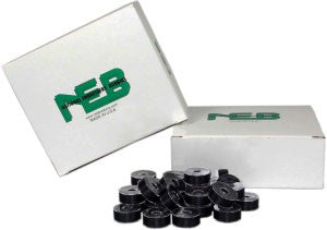 NEB Plastic Side Bobbin: Style L Black - Box of 144