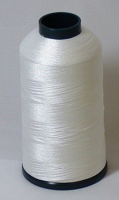 RAPOS-1 Bright White Embroidery Thread Cone – 5000 Meters