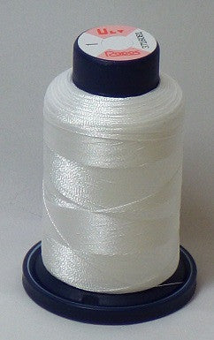 R1K-1 Bright White Embroidery Thread Cone – 1000 Meters R1K 1