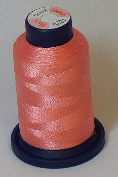 RAPOS-1025 Light Candy Peach Embroidery Thread Cone – 1000 Meters R1K 1025