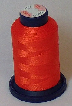 RAPOS-129 Dark Bright Orange Embroidery Thread Cone – 1000 Meters R1K 129