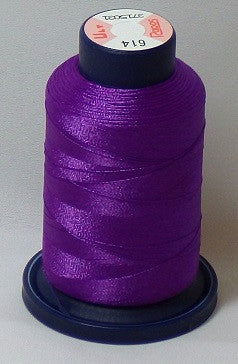 RAPOS-614 Plum Violet Embroidery Thread Cone – 1000 Meters R1K 614
