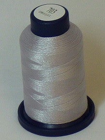 RAPOS-703 Pale Grey Pearl Embroidery Thread Cone – 1000 Meters R1K 703
