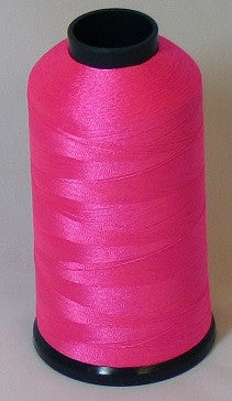RAPOS-47 Fluorescent Dark Pink Thread Cone – 5000 Meters