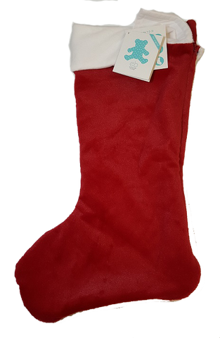 "19"" Plush Red Embroider Christmas Stocking"
