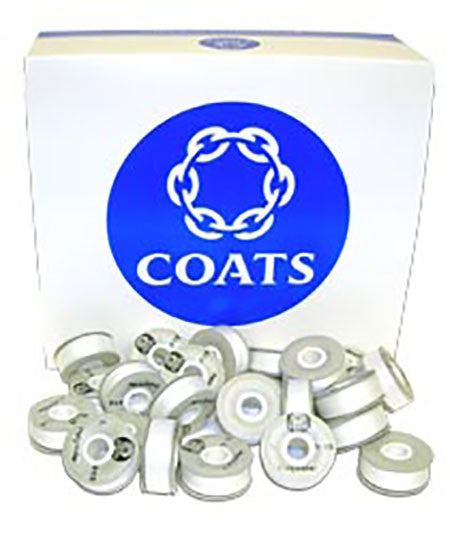 Coats White Generic Cardboard Side Bobbin - 1 Gross (144 Bobbins)
