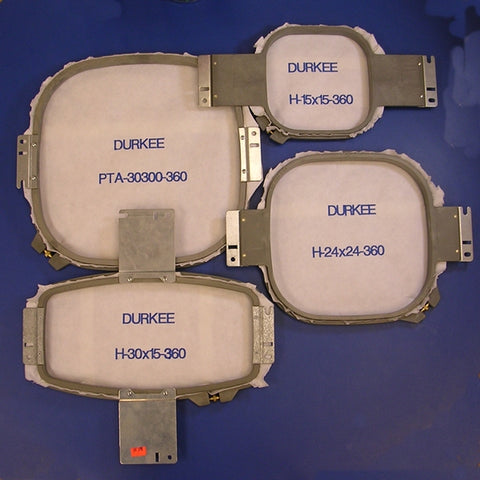 Durkee Square Hoop Kit for Happy Embroidery Machines 360 NS