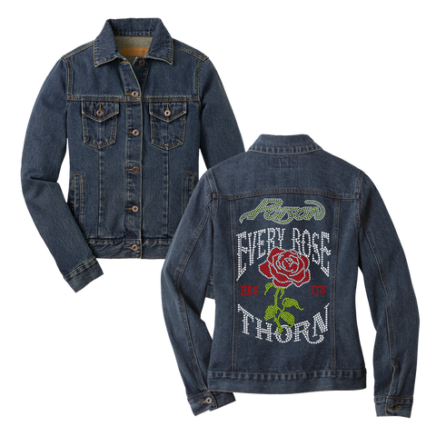 Every Rose Has Its Thorn Denim Jacket