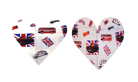 British Flag Mini Cooper Cotton Fabric for 50s style clothing by Fullilove Designs
