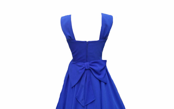 Blue 1950s Wedding Style Vintage Bridesmaids Dresses Custom Made in UK by Fullilove Designs