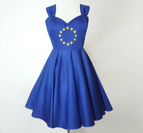 Eurovision Dress | Blue Swing Dress | Fullilove Designs