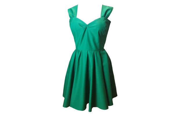 Emerald Green 50s Style Bridesmaid Dresses Made to Measure in England by Fullilove Designs
