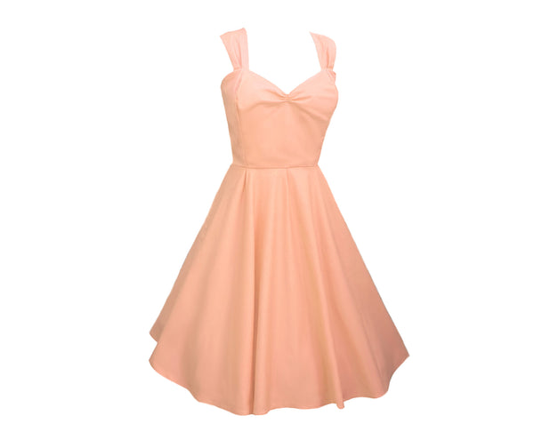 Peach Bridesmaid Dress UK | 1950s Bridesmaid Dress | Fullilove Designs