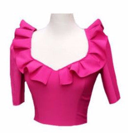 Fitted Blouse with Frill