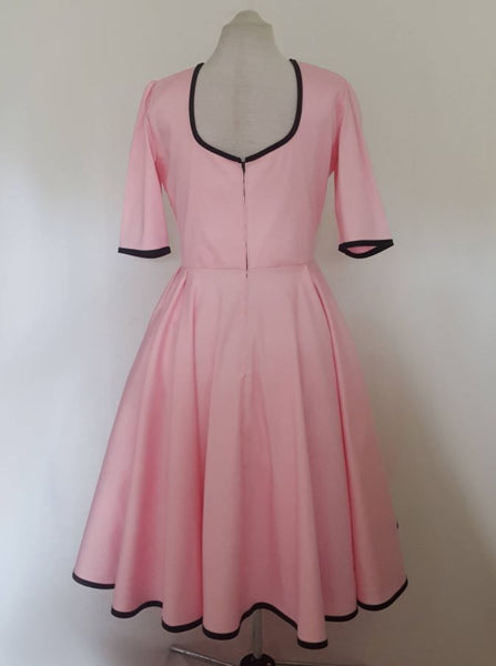 Pink bridesmaid dress with sleeves | Vintage inspire Bridesmaid Dress | Fullilove Designs
