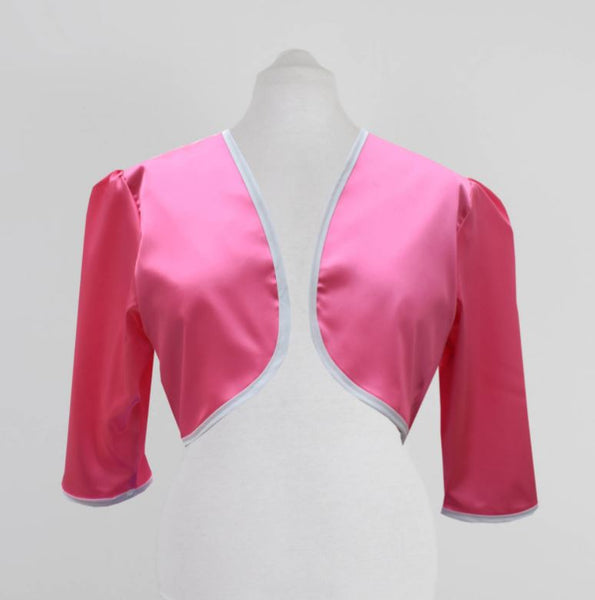 Pink Satin Bolero | 3/4 Satin Bridesmaid Jacket | Fullilove Designs