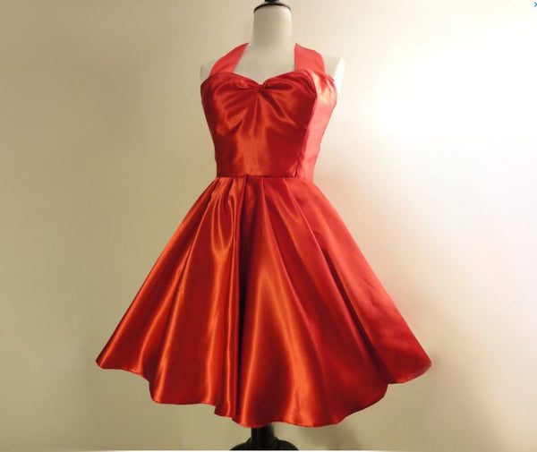 Red-Satin-Bridesmaid-Dress-Fulliove Designs