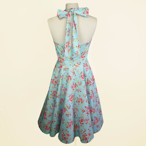 Fulllilove Designs Floral 1950s Wedding Style Vintage Bridesmaids Dresses Custom Made in UK