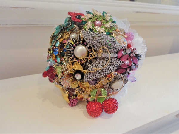 Designer Brooch Bouquets by Fullilove Designs Handmade in UK