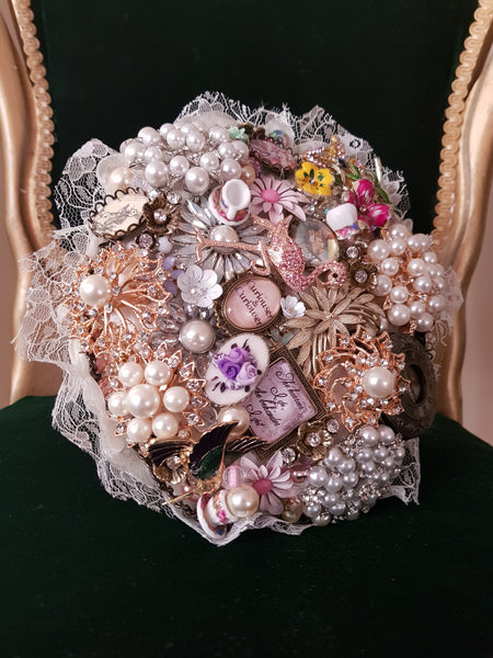 Alice in Wonderland Brooch Bouquet | Fullilove Designs