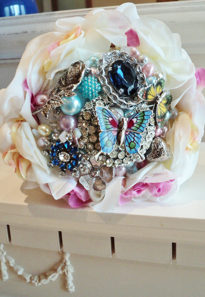 Wedding brooch bouquet | Bridal Butterfly Bouquet | Fullilove Designs