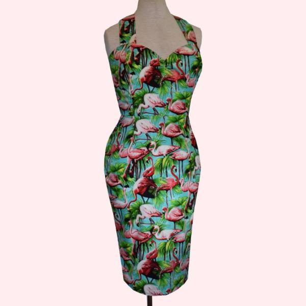 Flamingo Pin up Wiggle Dress