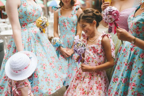 Floral Bridesmaid and Flower Girl Swing Dress