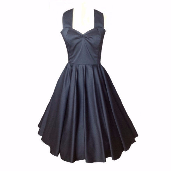 Black 50s Style Swing Dress | 1950s Dress | Fullilove Designs