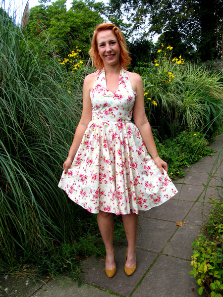 1950s Rockabilly Bridesmaid 50s Style Plus Size Swing Dress Made in Uk by Fullilove Designs
