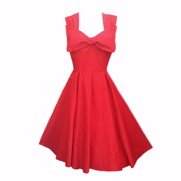 Classic Red 50s Style Bridesmaid Dresses Made to Measure in England by Fullilove Designs