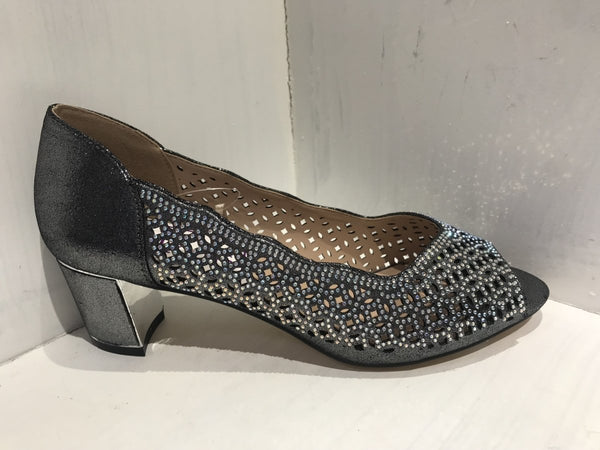 Lotus Attica Pewter Block Heel - MJ Shoes