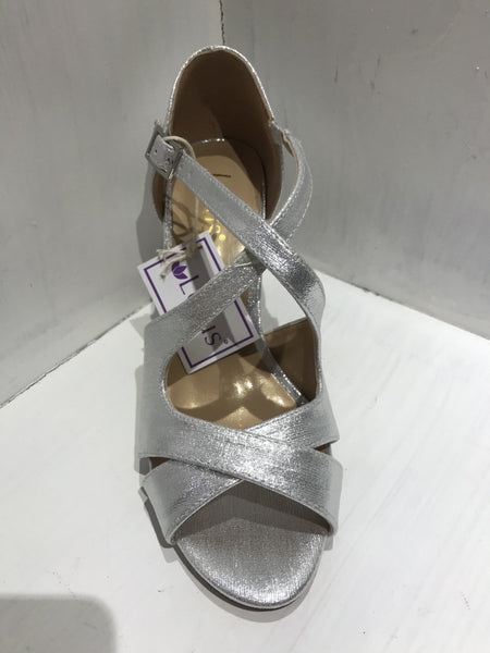 Lotus Sadia Silver Dress Sandal - MJ Shoes