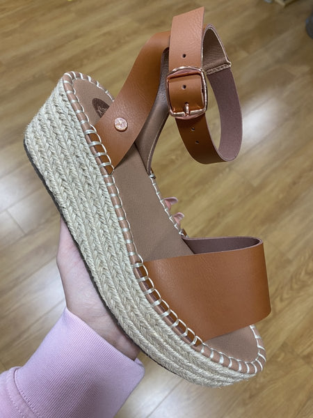 Rant & Rave Myla Tan Wedge - MJ Shoes