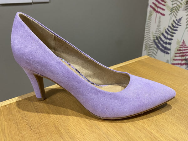 S. Oliver Lilac Court Shoe - MJ Shoes
