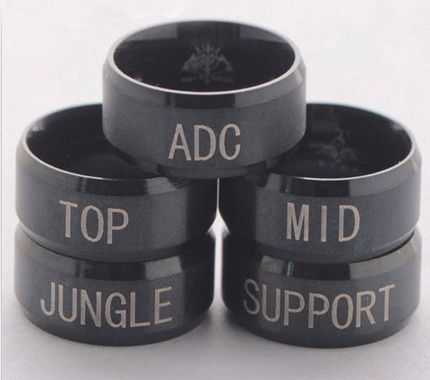 Anel de League of Legends - ADC, TOP, MID, JUNGLE e SUPPORT