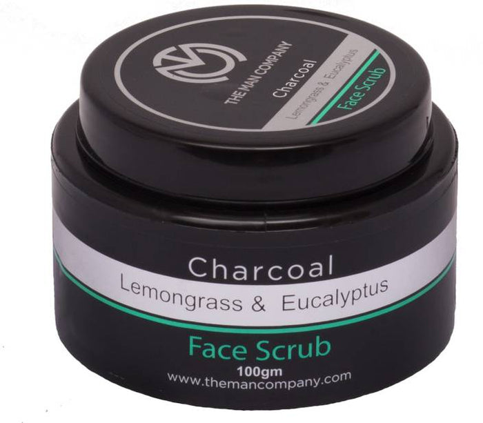 LEMONGRASS & EUCALYPTUS | CHARCOAL FACE SCRUB - THE MAN COMPANY