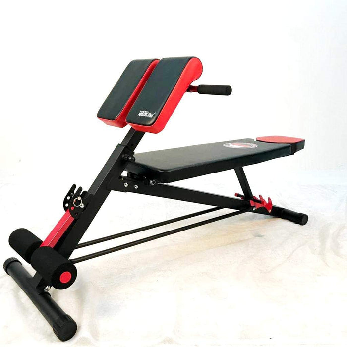 MF MULTI-FUNCTIONAL BENCH FOR FULL ALL-IN-ONE BODY WORKOUT | HYPER BACK EXTENSION | ROMAN CHAIR | ADJUSTABLE AB SIT UP BENCH | DECLINE BENCH | FLAT BENCH