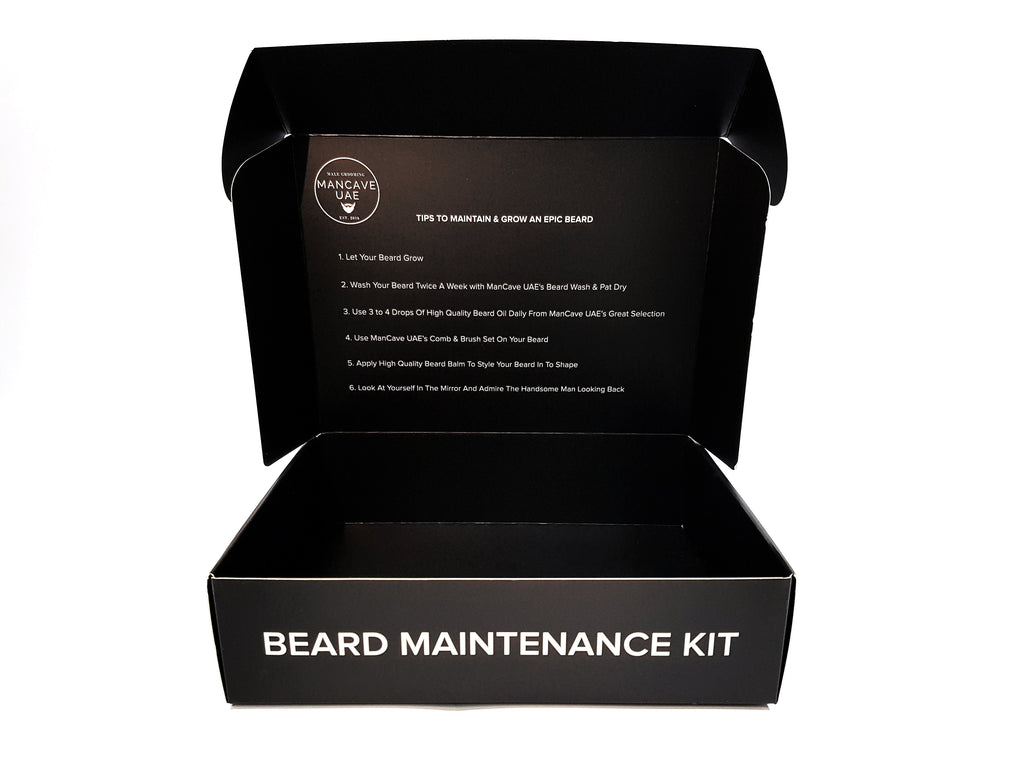"MANCAVE UAE ""STARTER BEARD GROOMING KIT"""