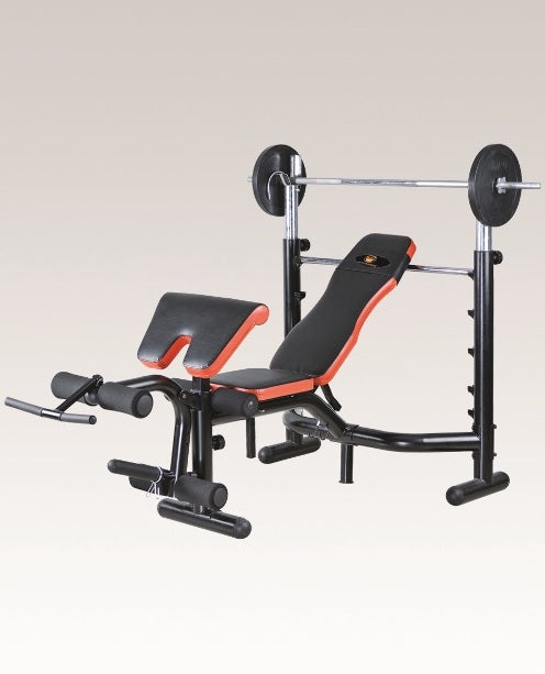 MF HOME GYM PROFESSIONAL OLYMPIC WEIGHT LIFTING BENCH WITH PREACHER CURL LEG