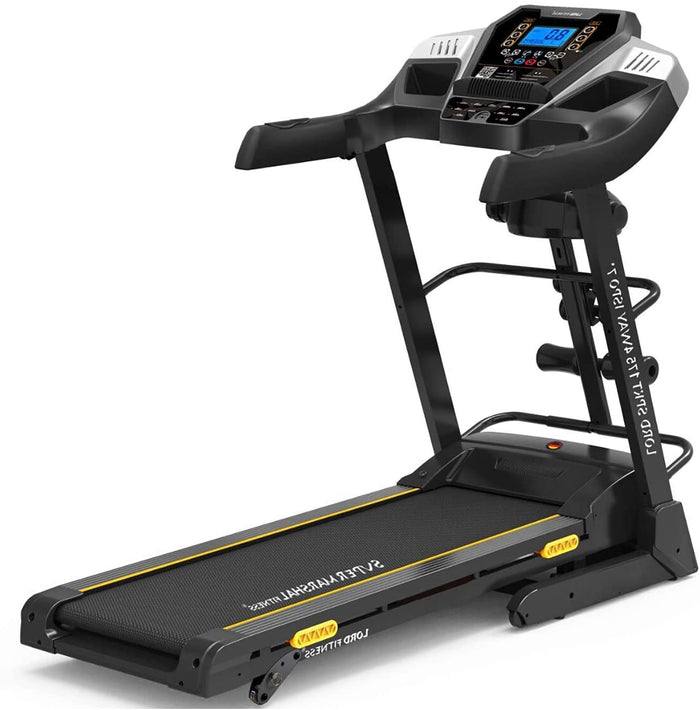 MF HOME GYM SIX LEVEL SHOCK ABSORPTION HOME USE TREADMILL WITH MP3 AND LCD DISPLAY