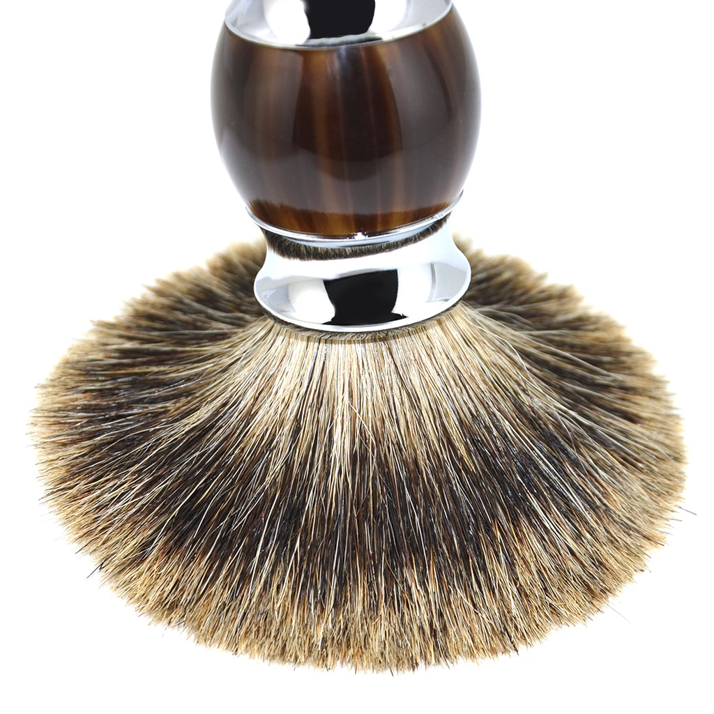 MANCAVE UAE KNIGHTSBRIDGE LUXURY SHAVING BRUSH - BROWN
