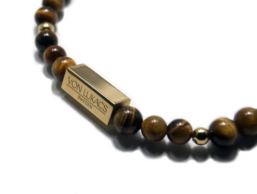 MENS LUXURY BRACELET NEW YORK TIGER EYE