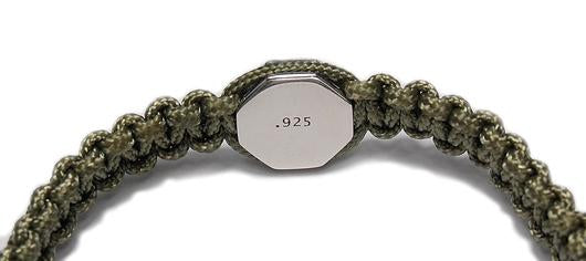 MENS LUXURY BRACELET MONARCH 925 - MILITARY GREEN