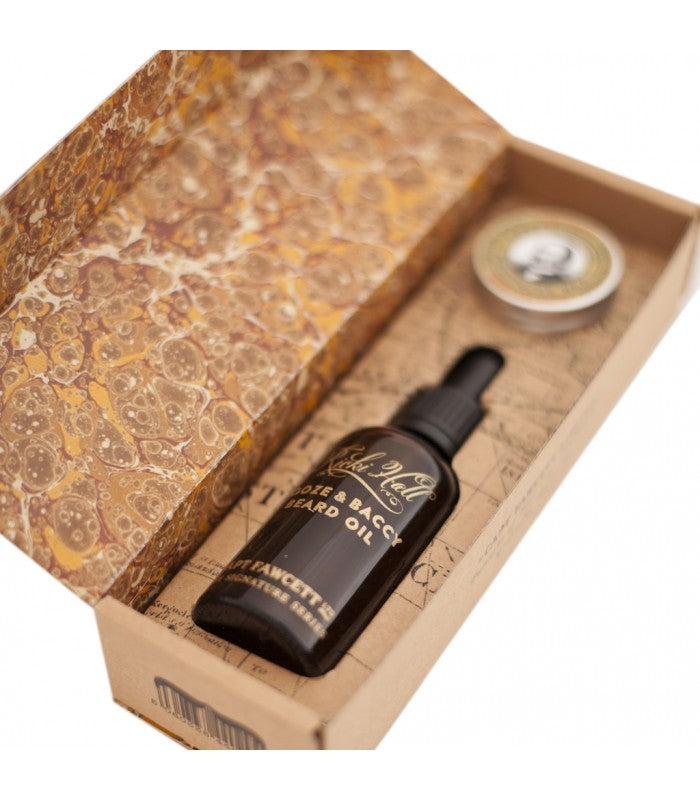 CAPTAIN FAWCETT - RICKI HALL BOOZE & BACCY BEARD OIL & MOUSTACHE WAX GIFT SET