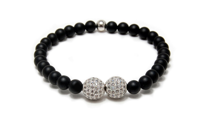 MENS LUXURY BRACELET HELSINKI ONYX BLACK