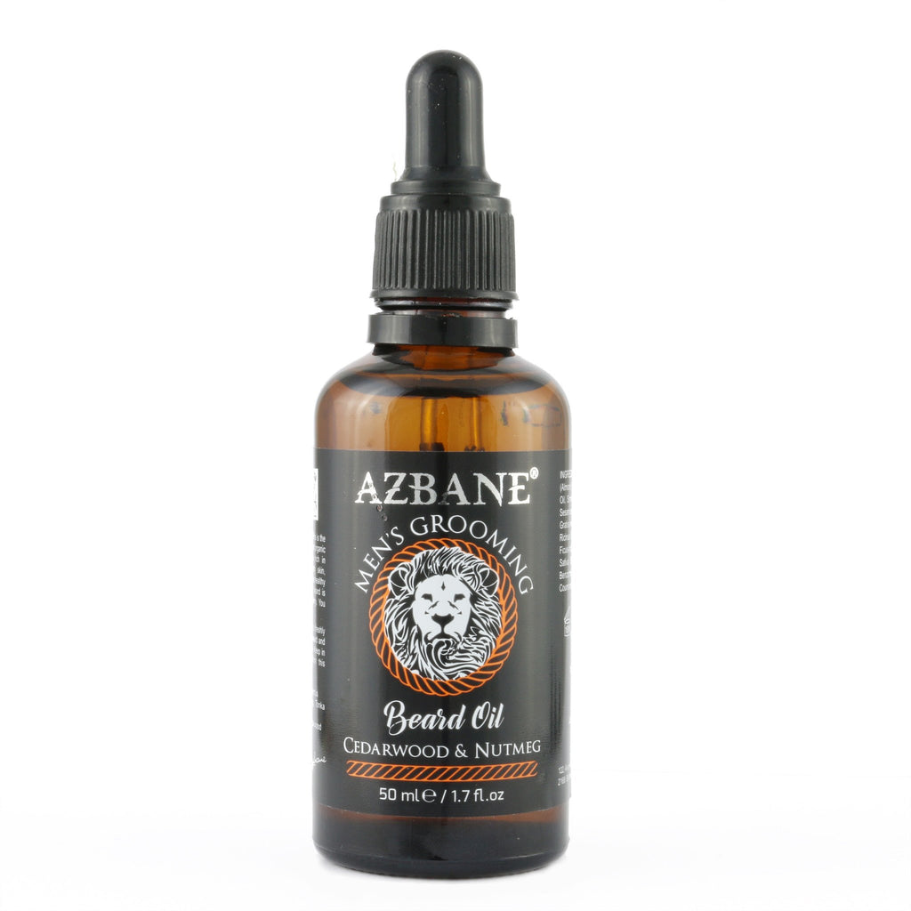 AZBANE ORGANIC CEDARWOOD & NUTMEG BEARD OIL